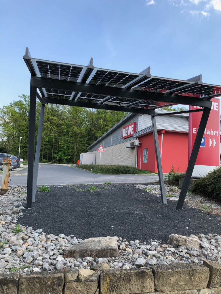 Solar Carport  Solar Photovoltaik Speicher Pv Picture Sample of Metal Carport Installation
