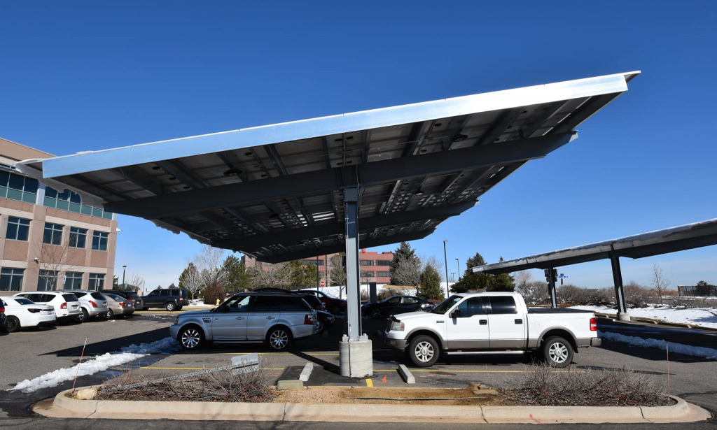 Solar Carports A Practical Solution  Independent Power Systems Picture Sample in Commercial Solar Carport Cost