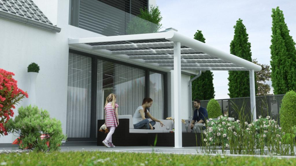 Solar Terrassen Ab 9800 €  0€ Versandkosten  Premium Photo Example for Solar Carport Residential
