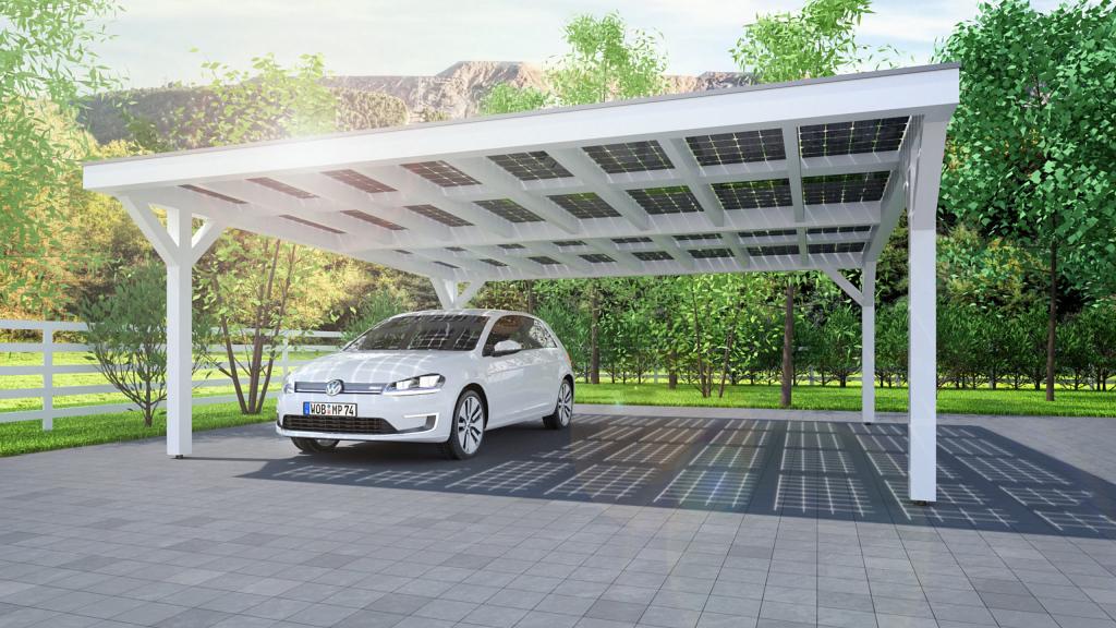 Solarcarport Ab 0– € Aus Holz Alu Oder Stahl  30 Jahre Facade Sample of 3 Car Metal Carport