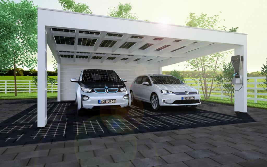 Solarcarport Ab 0– € Aus Holz Alu Oder Stahl  30 Jahre Photo Sample of Solar Carport Design