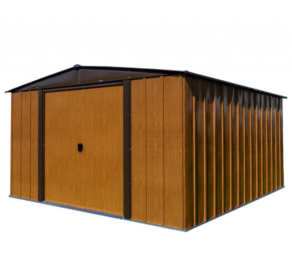 "Spacemaker Gerätehaus Woodlake 10X12 ""holzoptik"" 313X370 Cm Picture Example of 10X12 Metal Carport"