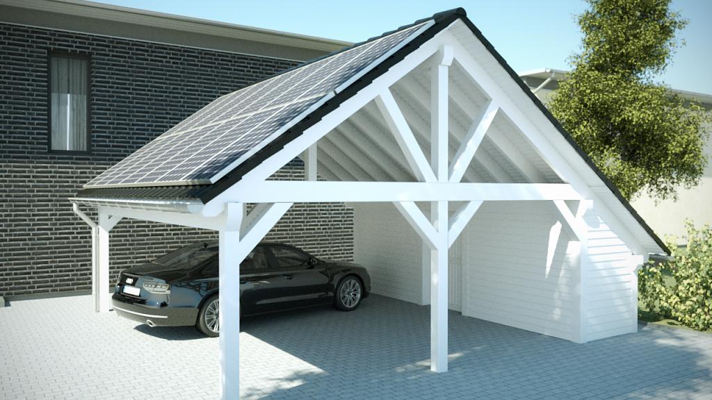 Spitzdach Carport Nach Ihren Wünschen  Premium Carportwerk Facade Sample in Metal Carport 24 X 36
