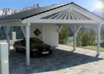 Spitzdach Carport Nach Ihren Wünschen  Premium Carportwerk Image Sample in 20 X 40 Metal Carport