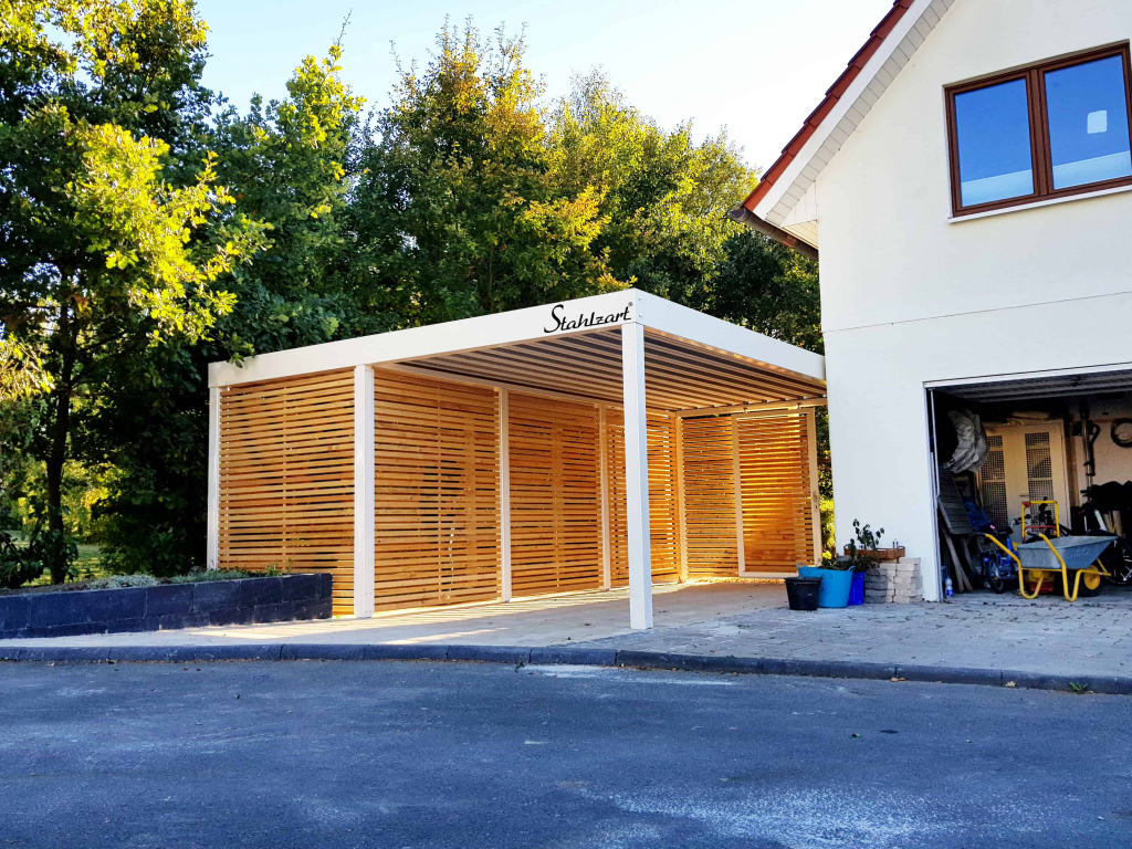 Stahlzart Carport Design Studio · Carport Metall Stahl Holz Photo Example for Modern Carport Designs