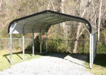 Standard 12X21X5 Metal Carport For One Car  Carport Picture Sample for 1 Car Metal Carport