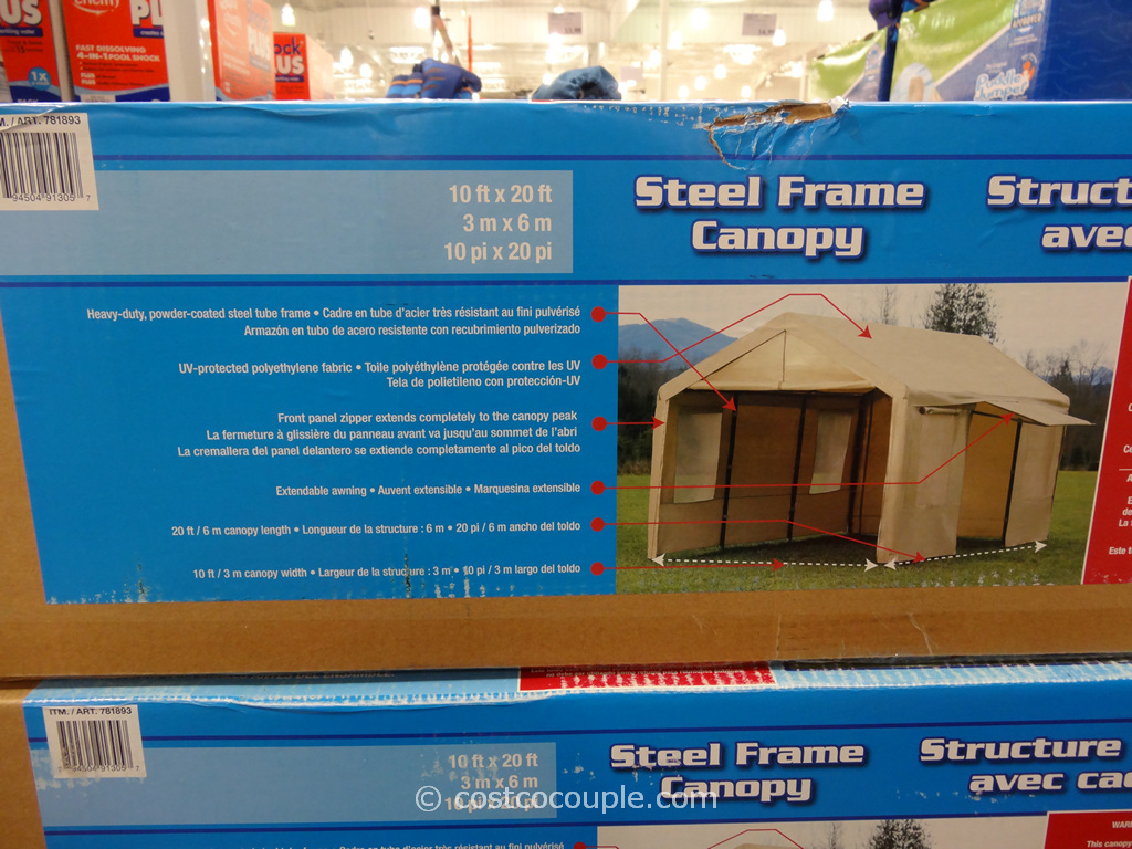 Steel Frame Canopy With Side Walls Image Sample in 10X20 Canopy Carport With Sidewalls Costco