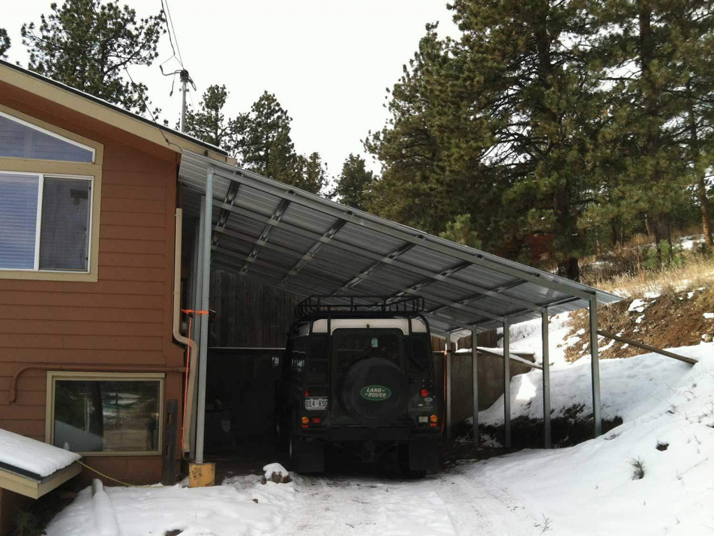 Steel Single Slope Carport Facade Sample for Metal Carport Snow Load