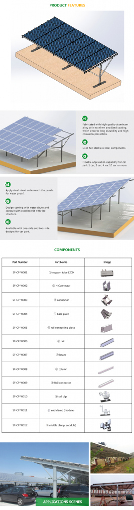 Steel Solar Carport Structure With Mounting Kits  Buy Solar Panel  Carportsolar Car Parkingcommercial Solar Carport Product On Alibaba Picture Sample for Commercial Solar Carport Cost Per Watt