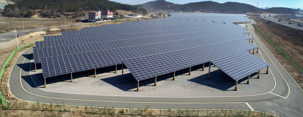 Sun Action Trackers  Sun Action Trackers Image Example in Commercial Solar Carport Cost Per Watt
