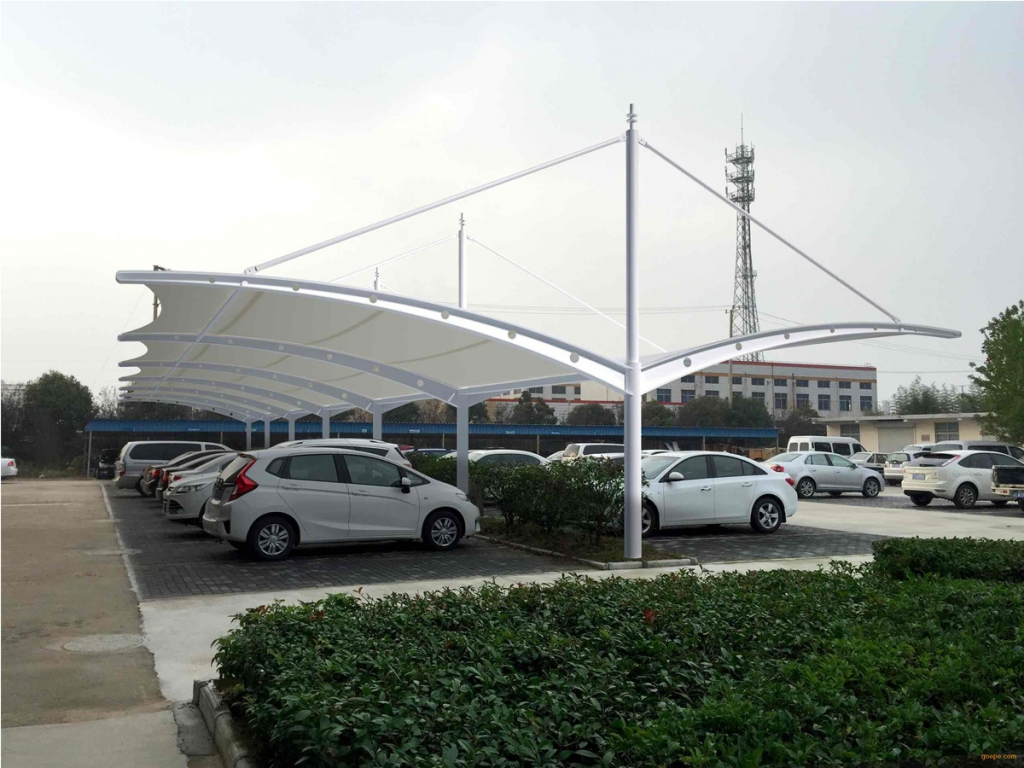 Tensile Structures For Cantilever Car Parking Shade Sheds Facade Sample of Cantilever Carport Canopy