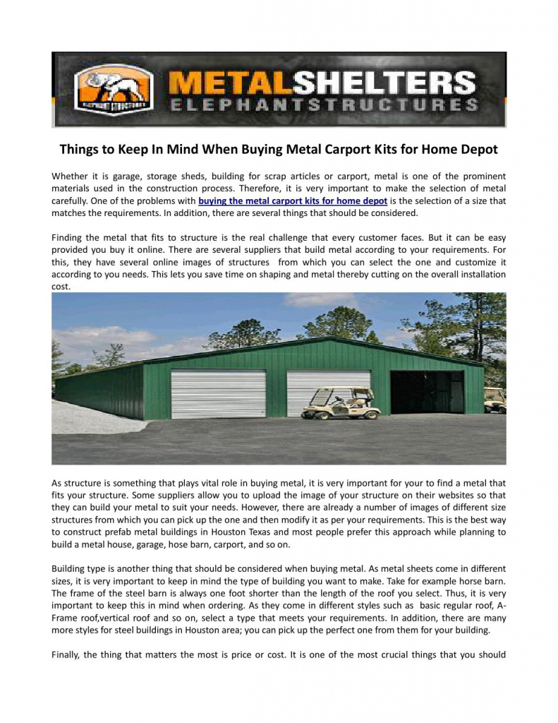 Things To Keep In Mind When Buying Metal Carport Kits For Facade Example of Do I Need A Building Permit For A Metal Carport