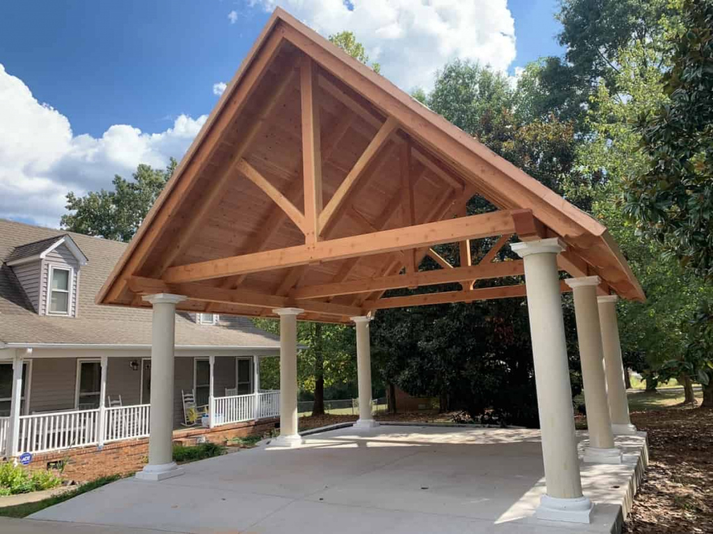 Timber Framed Carports Hand Craftedmoresun Picture Sample in Wood Carport Trusses