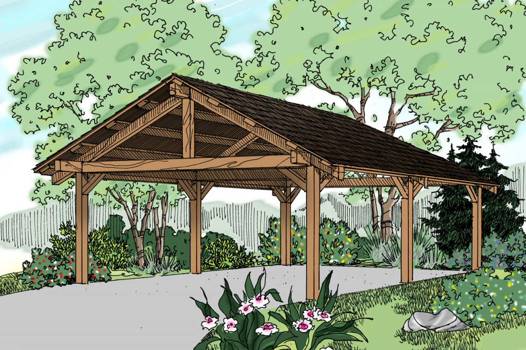 Traditional House Plans  Carport 20062  Associated Designs Image Example of Garage And Carport Plans