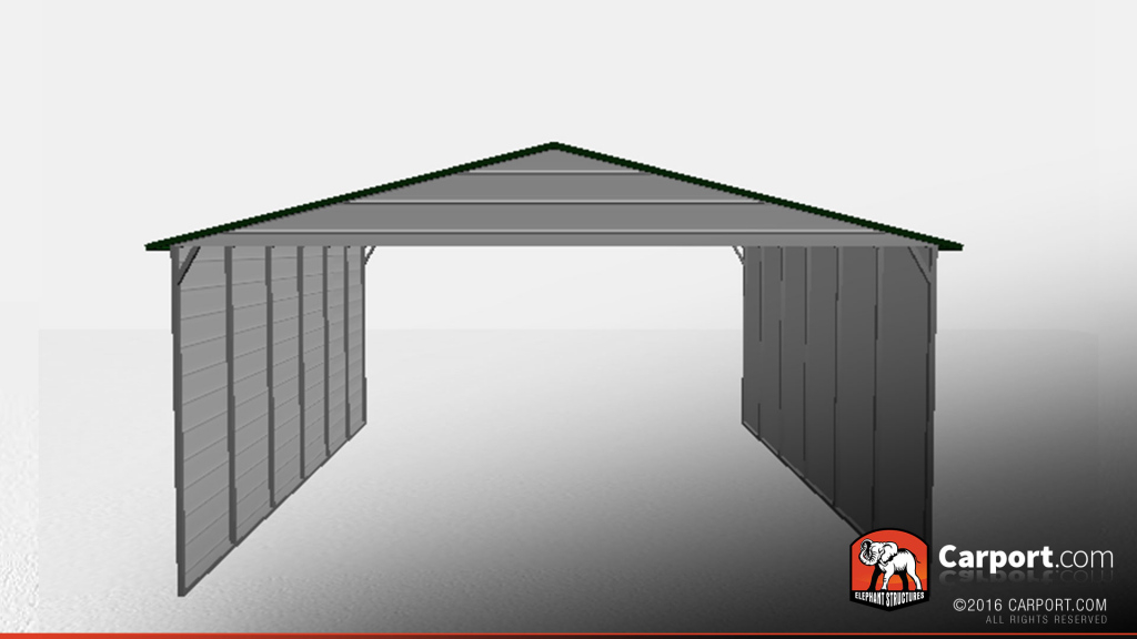 Triple Wide Metal Car Port With Sides Closed Picture Sample of Steel Carport With Sides