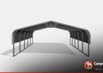 Two Car Metal Carport 18' Wide X 21' Long X 6' High Photo Example for Two Car Metal Carport Prices