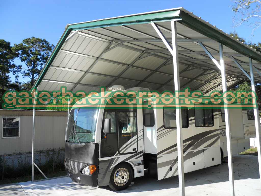 Understanding Rv Carport Heights And Their Components Image Example in Metal Carport Frame Components