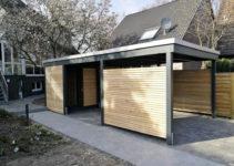 Unsere Carportvielfalt Im Modernen Design  Carporthaus Image Example for Modern Wood Carport