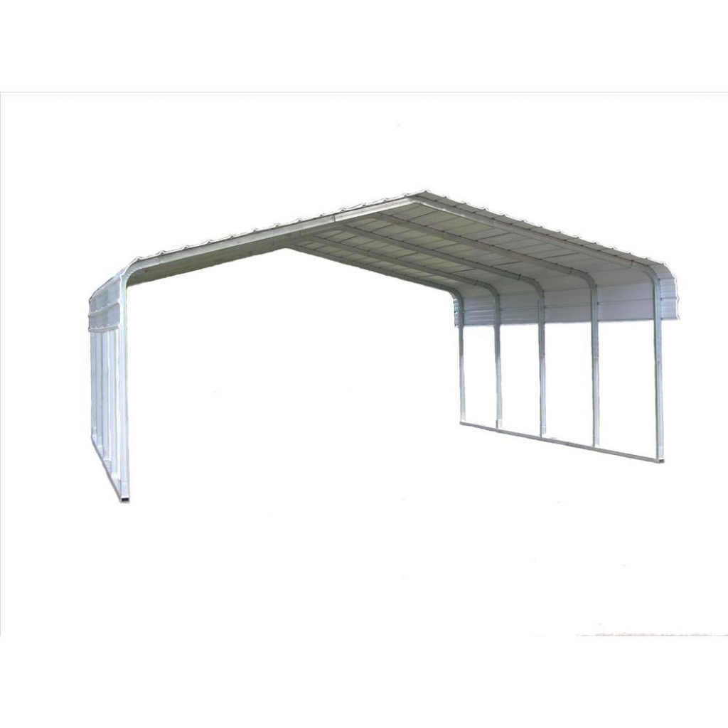 Versatube 18 Ft W X 20 Ft L X 10 Ft H Steel Carport Picture Sample for How To Assemble A Metal Carport
