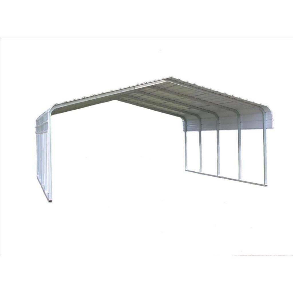 Versatube 20 Ft W X 20 Ft L X 7 Ft H Steel Carport Facade Sample for Metal Carport Frame Parts