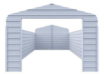 Versatube Enclosure Kit For 12 Ft W X 20 Ft L X 7 Ft H Steel Carport Facade Example of Enclosed Carport Kits