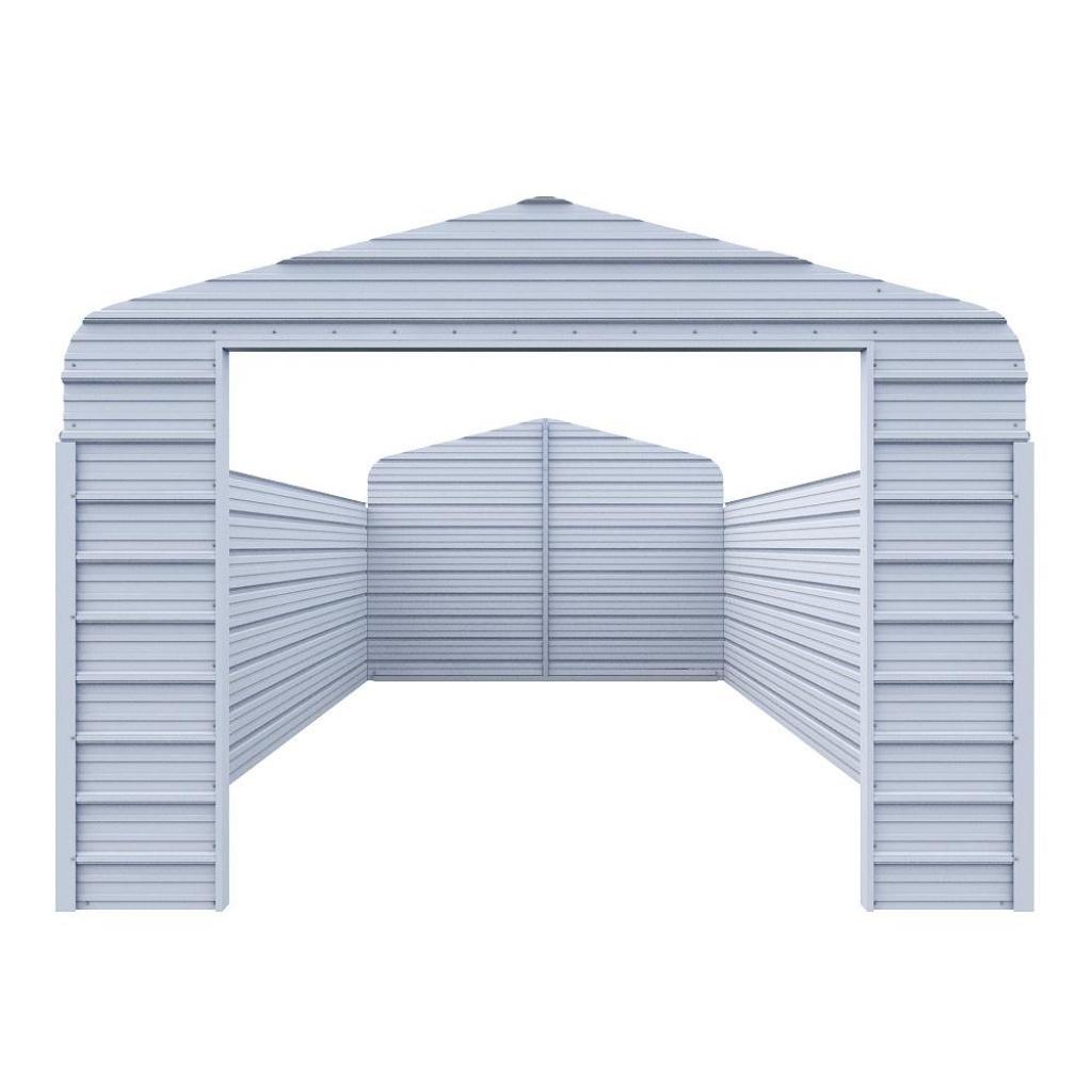 Versatube Enclosure Kit For 12 Ft W X 20 Ft L X 7 Ft H Steel Carport Facade Example of Enclosed Carport Kits