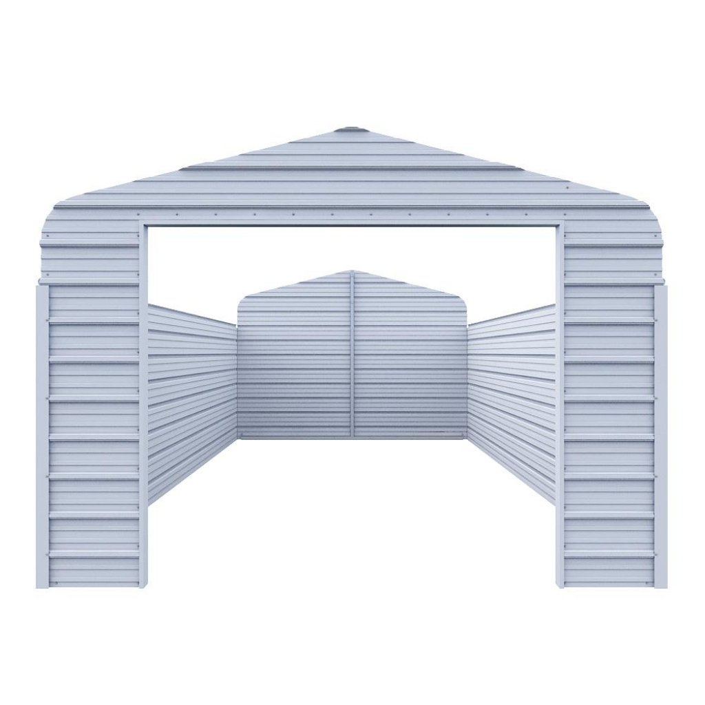Versatube Enclosure Kit For 12 Ft W X 20 Ft L X 7 Ft H Steel Carport Facade Example of How To Turn A Metal Carport Into A Garage