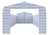 Versatube Enclosure Kit For 12 Ft W X 20 Ft L X 7 Ft H Steel Carport Picture Example for Metal Carport Enclosure Kits