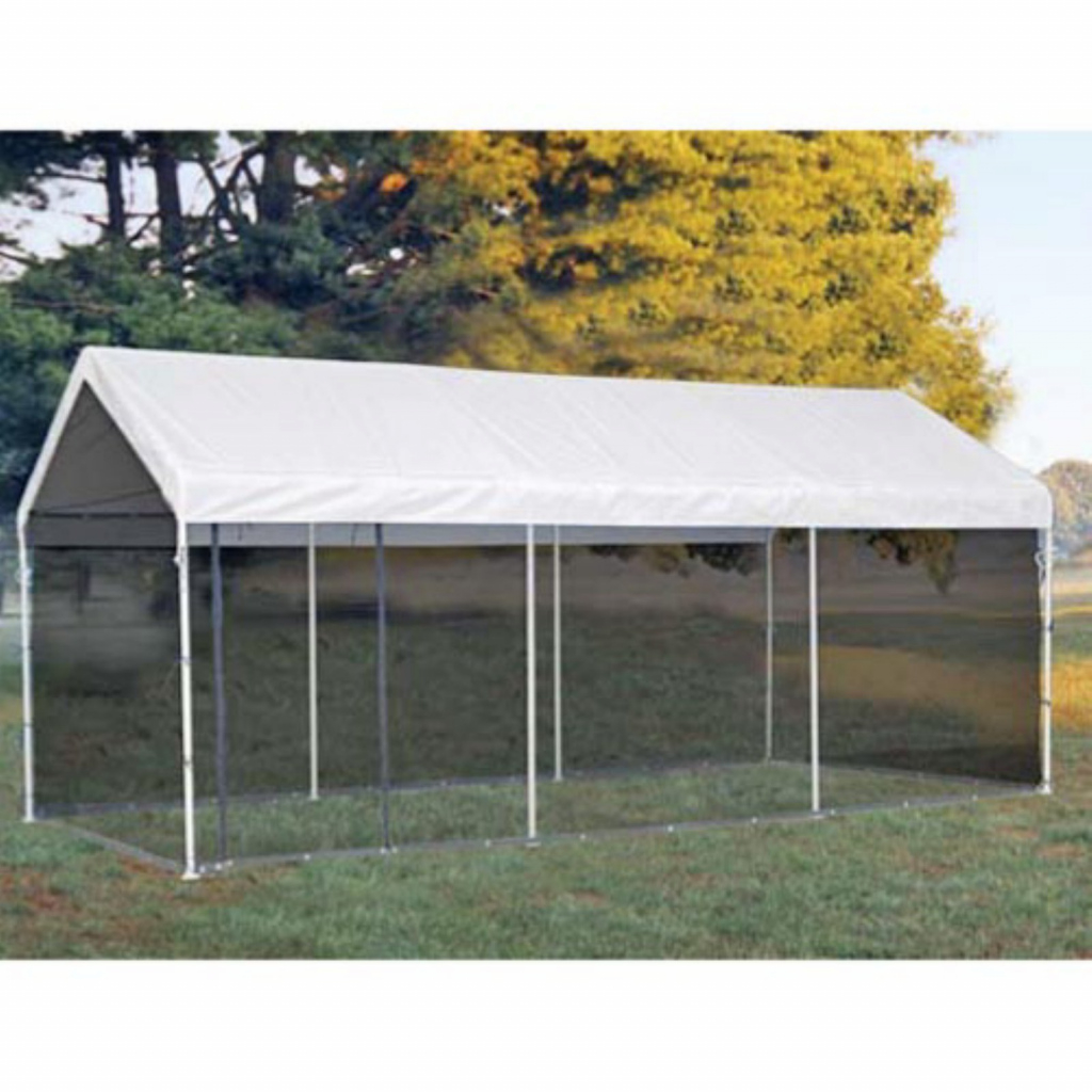 White Outdoor Popup Canopy Shelterlogic Maxap Carport Image Example for Shelterlogic 10X20 Canopy Carport