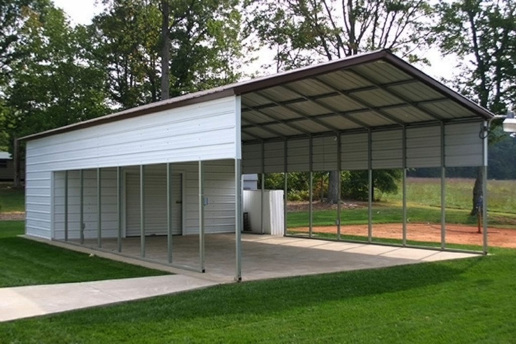 Wood Shed Design Metal Storage Building With Living Quarters Image Sample of Wood Carport With Storage