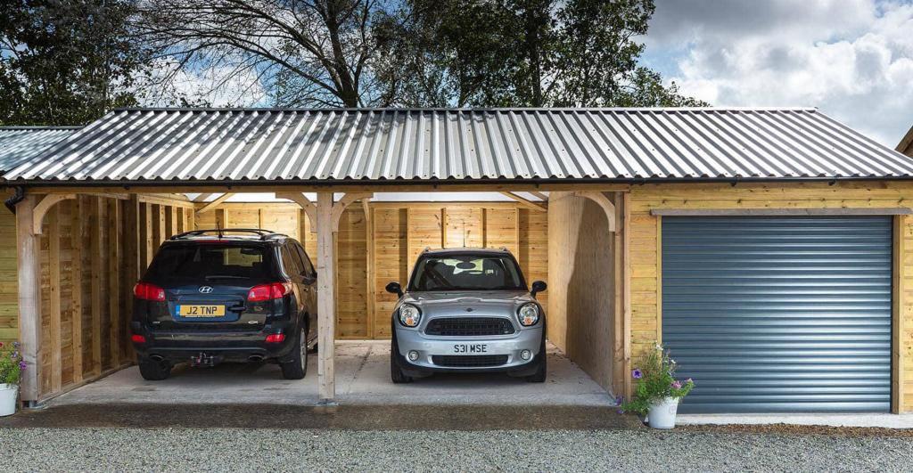 Wooden Carports In Devonshields Garden Buildings Facade Sample for Combo Garage Carport