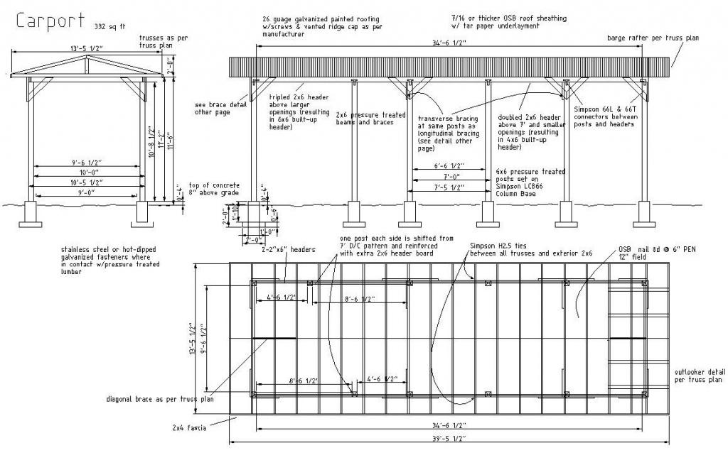 Woodwork Building Plans Carports Pdf  House Plans  38322 Facade Sample of Carport House Plans